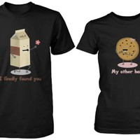 Milk and Chocochip Cookie Matching Couple Shirts