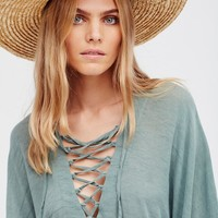 Free People Modern Love Lace Up Kaftan