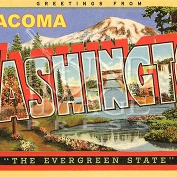 Greetings from Tacoma Postcard