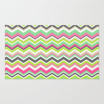 Aztec Tribal Chevron Pattern Design Area & Throw Rug by TRM Design