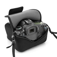 USA Gear DuraNeoprene dSLR FlexArmor Sleeve Case for Nikon , Canon EOS Rebel , Pentax , and Sony Alpha Digital SLR Cameras