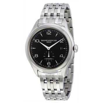 Baume and Mercier Clifton Black Dial Stainless Steel Mens Watch 10100