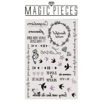 "MagicPieces Temporary Tattoo Fake Tattoo Waterproof Non-toxic Tattoo Sticker with Sequins Star Swallow Diamond Pattern Size 3.9""X5.9"" T0522"
