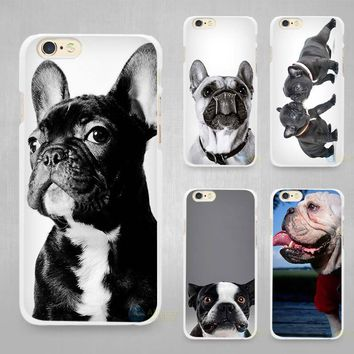French Bulldog Hard White Cell Phone Case Cover