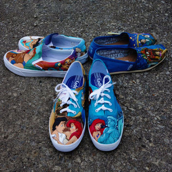 Disney The Little Mermaid Custom Painted Keds for Jodi