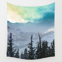 Scenic Wall Tapestry, Mountains Home Decor, Rainbow Clouds, Forest Tapestry, Nature Wall Tapestry, Inspiring Wall Art, Surreal Tapestry