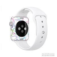 The Pastel Color Vector Heart Pattern Full-Body Skin Kit for the Apple Watch