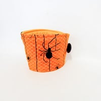 Reusable Coffee Sleeve  Coffee Cozy  Creepy Spider