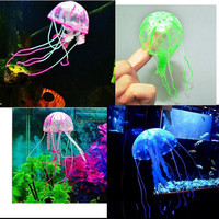 2016 Lovely Silicone Artificial Jellyfish Style Swim Glowing Effect Fish Tank Aquarium Decoration Accessorie