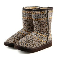 UGG Women Leopard Fashion Snow Boots Half Boots Shoes