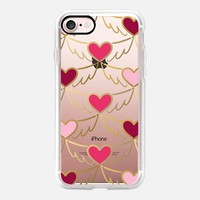 Golden Wings of Love Pattern (transparent) iPhone 7 Case by Lisa Argyropoulos | Casetify