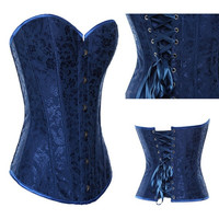 New blue waistcoat palace garment belly in corsets = 1929800964
