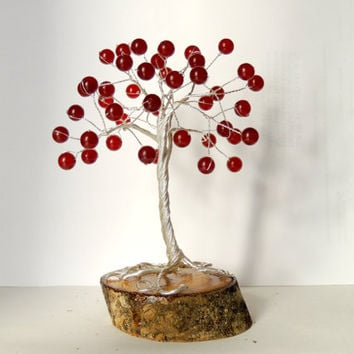 Red Ruby Wire Tree,tree of life,wire tree sculpture,gem tree,gem tree