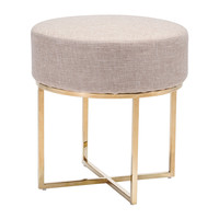 Alia Stool | Beige & Gold