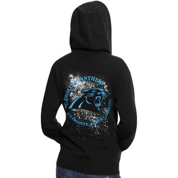 Pro Line Carolina Panthers Women's Elite Metallic Fortune Full-Zip Hoodie