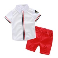 Tattered Button Matching Toddler Summer Clothes