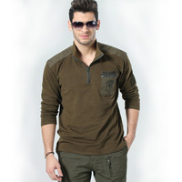 Men's Fashion Tops Men Long Sleeve Cotton Casual T-shirts [6544700035]