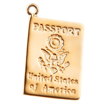 Gold Passport Charm by Altruette- The List Project
