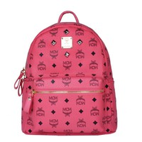 MCM backpack bag Double backpack pink