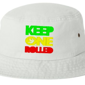 keep one rolled  bucket hat