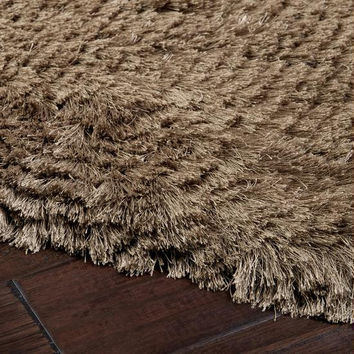 Area Rug - Mulled Wine And Taupe Beige