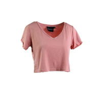 Minkpink Womens Cotton Short Sleeves Crop Top