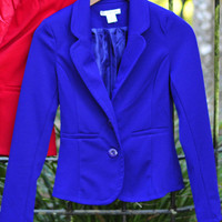 She Might Be Royalty Blazer: Royal Blue | Hope's