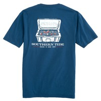 Beer, Ice & Good Times T-Shirt in Yacht Blue by Southern Tide