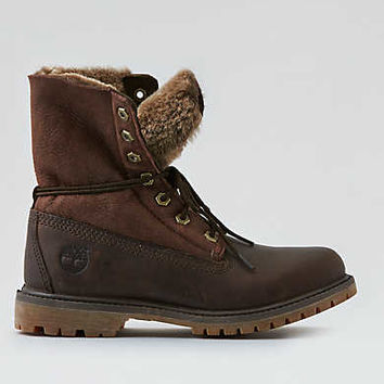 Timberland Shearling Fold-Down Boot, Brown