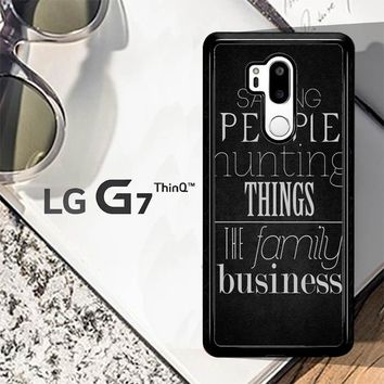 Supernatural Sam Dean Winchester Z0199 LG G7 ThinQ Case