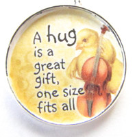 Hug is a Gift Necklace-Yellow chick-A hug is a great gift,one size fits all