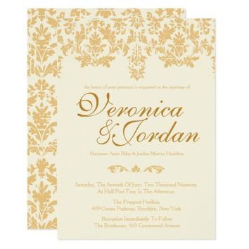 Vintage Gold, Antique Wedding Invitations
