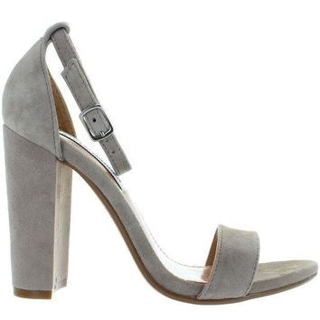 Steve Madden Carrson   Taupe Suede High Heel Sandal