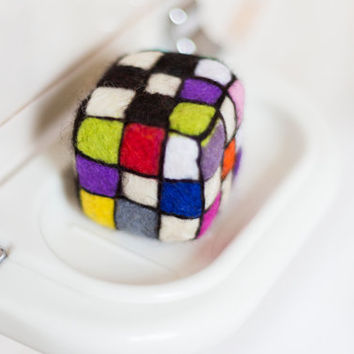 Gift for kids. Rubik s Cube. Homemade soap. Wool gift for him. Home f19efd8c8647