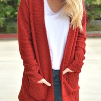 What You Need Cardigan - Red
