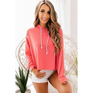 Sporty Spice Hoodie (Coral)