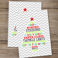 Christmas Tree Words Print