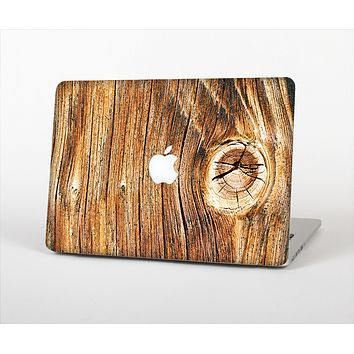 The Knobby Raw Wood Skin Set for the Apple MacBook Pro 13""