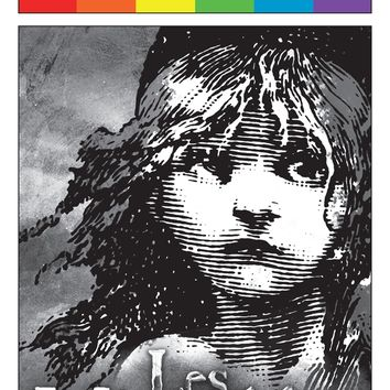 Les Miserables - June 2016 Playbill with Rainbow Pride Logo