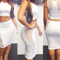 White Party Dress (2 Piece)