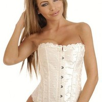 Ivory Bridal Embroidered Corset Intimates @ Amiclubwear Intimates Clothing online store:Lingerie,Corset,Bustier,Women's Intimates,Sexy Intimate,Corset Intimates,intimates underwear,sheer intimates,silk intimates,intimates bras,holiday underwear,garter bel