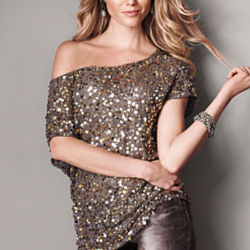 Sequin Off-the-shoulder Top - Victoria's Secret