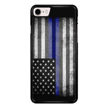 The Thin Blue Line American Police Officer iPhone 7 Case