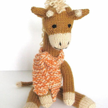 Knitting Patterns Jungle Animals : Shop Baby Stuffed Giraffe on Wanelo