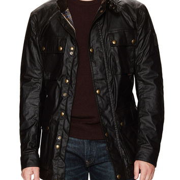 Belstaff Men's Roadmaster Signature Waxed Jacket - Brown -