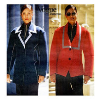 ISSEY MIYAKE JACKET Pattern Vogue 1481 Coat Pattern Japanese Avant Garde Vogue Designer Original Womens Sewing Patterns Size 8 10 12