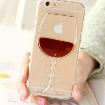 3D Liquid Cocktail Bottle Flow Red Wine Fundas Coque For iPhone 5 5S SE 6 6S 7 Plus Lovely case phone cases Cover Capa