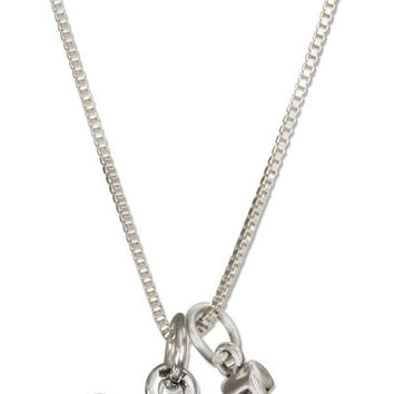 "STERLING SILVER 18"" ""COACH"" NECKLACE WITH WHISTLE"