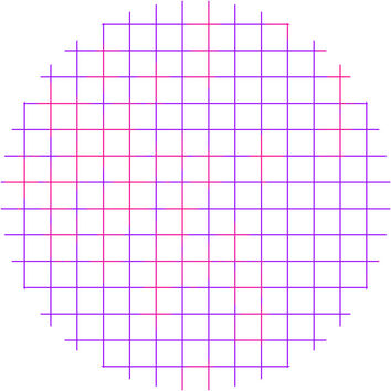 Purple Pink Grid Circle Wall Decal