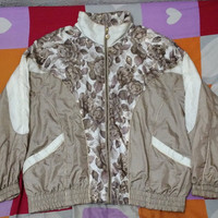 RARE Vintage CABIN CREEK Baroque print flower design 90s Hip Hop Royalty Swag Luxury Bomber Jacket